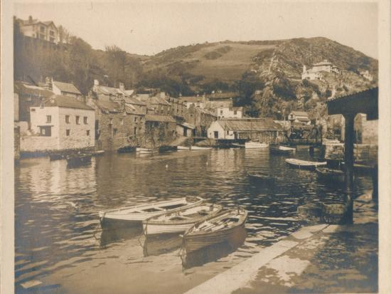 'The Inner Harbour - Polperro', 1927-Unknown-Photographic Print