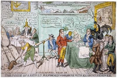 The Inside of a Newly Reformed Workhouse with All Abuses Removed, 1813-Timothy Teas-Giclee Print