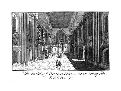 The Inside of Guild Hall Near Cheapside, London, C18th Century-William Griggs-Giclee Print