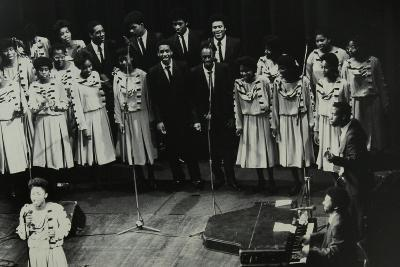 The Inspirational Choir on Stage at the Forum Theatre, Hatfield, Hertfordshire, 1985-Denis Williams-Photographic Print