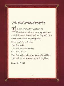 The Ten Commandments by The Inspirational Collection