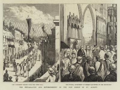 The Installation and Enthronement of the New Bishop of St Alban's--Giclee Print