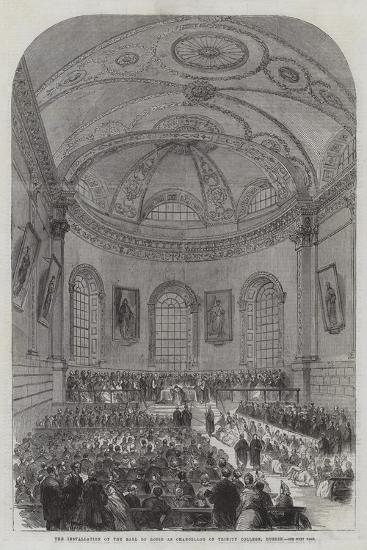 The Installation of the Earl of Rosse as Chancellor of Trinity College, Dublin--Giclee Print