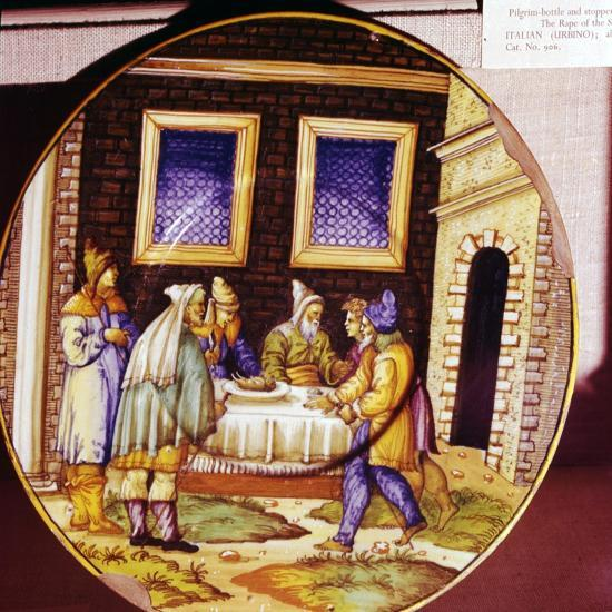 The Institution of Passover, Italian Earthenware plate from Urbino, c1540-1545-Unknown-Giclee Print
