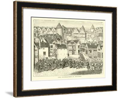 The Insurrection in Antwerp--Framed Giclee Print