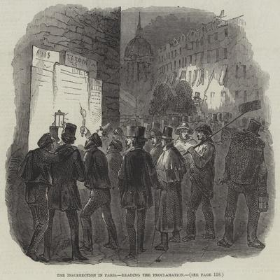The Insurrection in Paris, Reading the Proclamation--Giclee Print