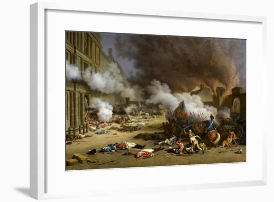 The Insurrection of the 10 August 1792-Jacques Bertaux-Framed Giclee Print