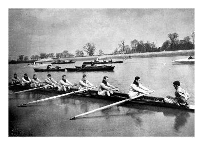 The Inter-Varsity Boat-Race: the Crews at Practice--Giclee Print