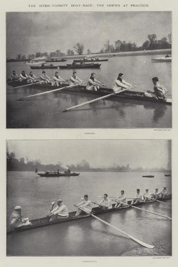 The Inter-Varsity Boat-Race, the Crews at Practice--Giclee Print