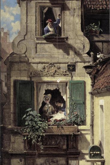 The Intercepted Love Letter, C.1855-60-Carl Spitzweg-Giclee Print