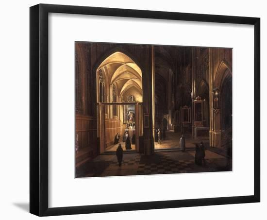 The Interior of a Gothic Church-Hendrik The Younger Steenwyck-Framed Giclee Print