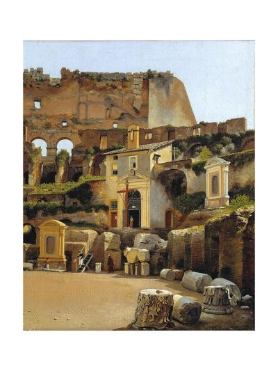 The Interior of the Colosseum in Rome-C.W. Eckersberg-Giclee Print