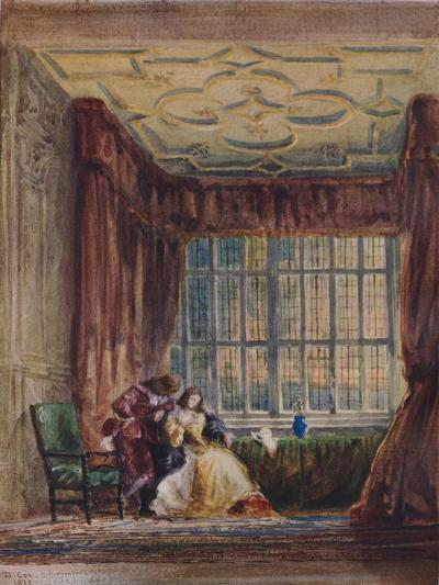 The interior of the long gallery, Haddon Hall, Derbyshire, 1833-David Cox the elder-Giclee Print