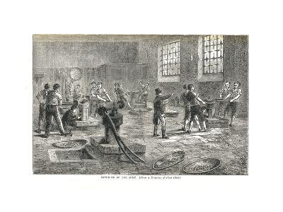 The Interior of the Mint from a Drawing of About 1800, 1878-Walter Thornbury-Giclee Print