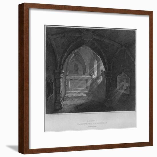 'The Interior of Warkworth Hermitage, Northumberland', 1814-John Greig-Framed Giclee Print
