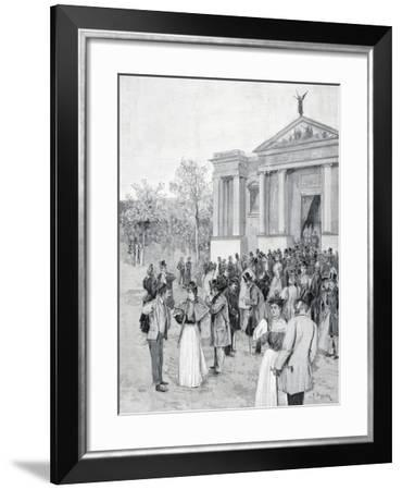 The International Art Exhibition in Venice in 1895--Framed Giclee Print