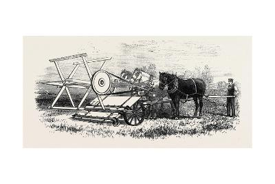 The International Exhibition: Croskill's Bell's Reaping Machine 1862--Giclee Print