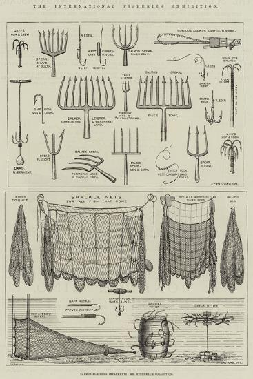 The International Fisheries Exhibition, Salmon-Poaching Implements, Mr Ffennell's Collection--Giclee Print