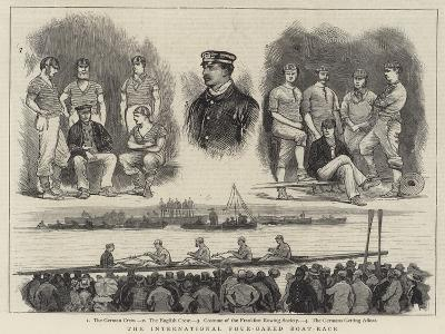 The International Four-Oared Boat-Race--Giclee Print
