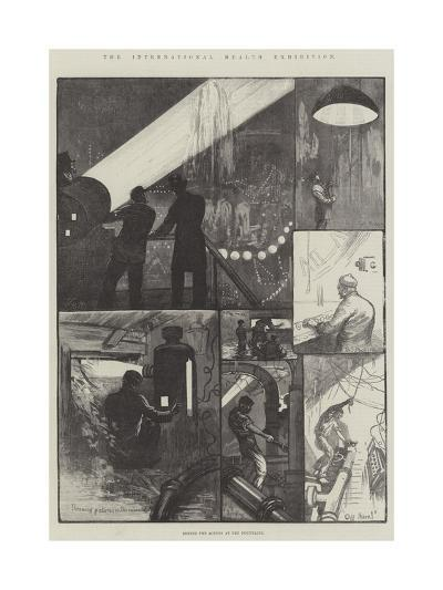 The International Health Exhibition, Behind the Scenes at the Fountains-William Bazett Murray-Giclee Print