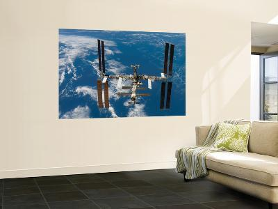 The International Space Station Moves Away from the Space Shuttle Atlantis, June 19, 2007--Wall Mural