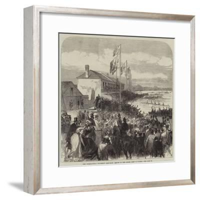 The International University Boat-Race, Return of the Oxford Crew to Putney--Framed Giclee Print