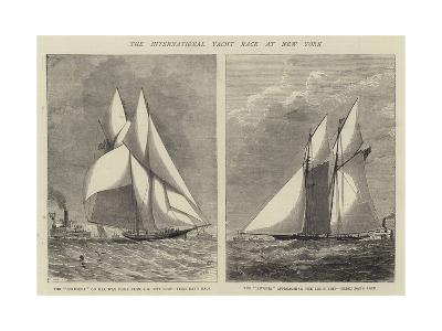 The International Yacht Race at New York--Giclee Print