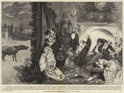 The Interrupted Ghost Story-Frederick Barnard-Giclee Print