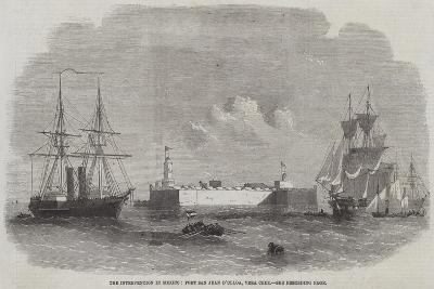 The Intervention in Mexico, Fort San Juan D'Ulloa, Vera Cruz--Giclee Print