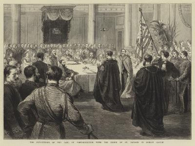 The Investiture of the Earl of Portarlington with the Order of St Patrick in Dublin Castle-Godefroy Durand-Giclee Print