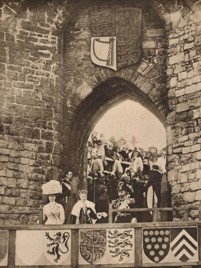 The investiture of the Prince of Wales at Caernarvon Castle, 13 July 1911 (1935)-Unknown-Photographic Print