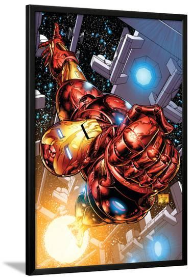 The Invincible Iron Man No.1 Cover: Iron Man-Joe Quesada-Lamina Framed Poster