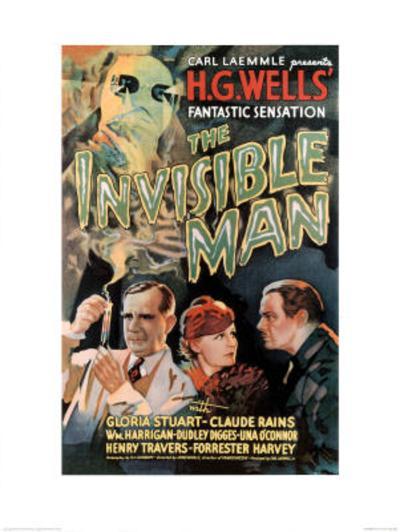 The Invisible Man Movie Claude Rains Gloria Stuart--Art Print