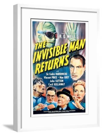The Invisible Man Returns, Vincent Price, Cedric Hardwicke, Nan Grey, Cecil Kellaway, 1940--Framed Photo