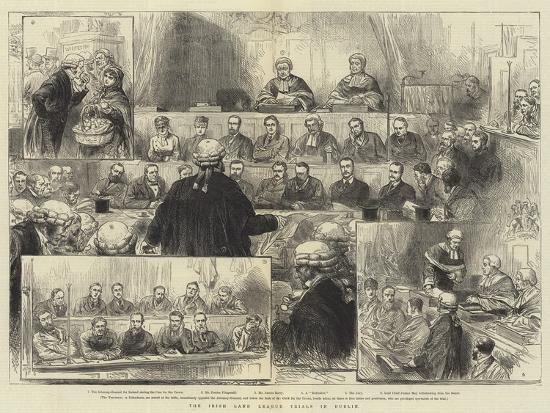 The Irish Land League Trials in Dublin--Giclee Print