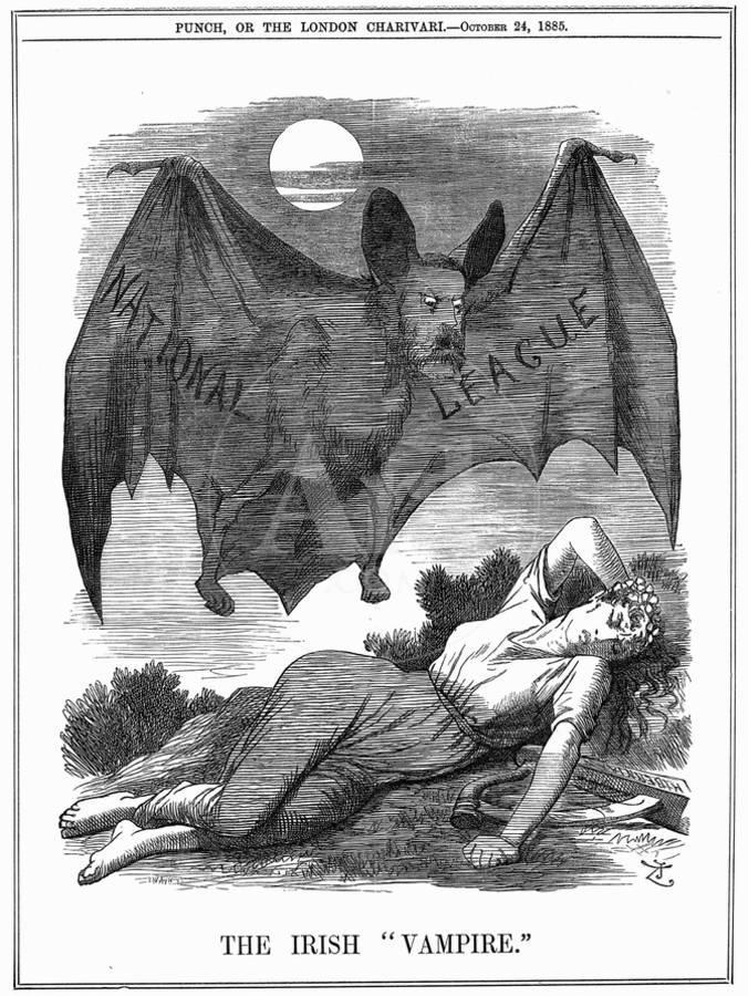 The Irish Vampire, 1885 Giclee Print by John Tenniel | Art com