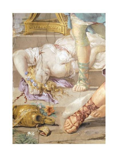 The Iron Age or Rather Uncontrolled Soldiery Hunts and Kills, Detail from Four Ages of Man-Pietro da Cortona-Giclee Print