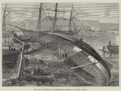 The Iron Clipper-Ship Eastminster, Capsized in London Docks--Giclee Print