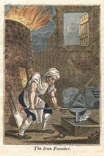 The Iron Founder, Rotherham, Yorkshire, 1821--Giclee Print