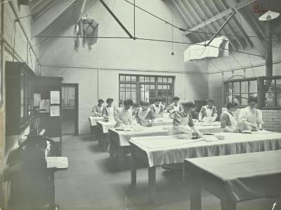 The Ironing Room, Battersea Polytechnic, London, 1907--Photographic Print