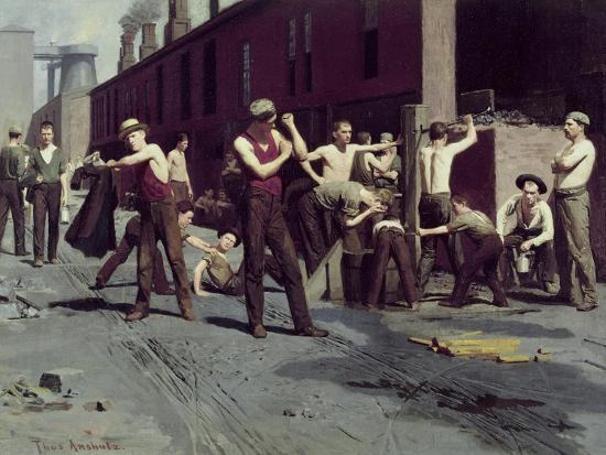 The Ironworkers' Noontime Giclee Print by Thomas Pollock Anshutz   Art com