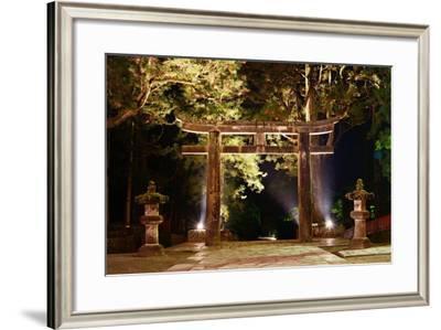 The Ishidori is a Stone Tori Gate in Nikko, Japan.-SeanPavonePhoto-Framed Photographic Print