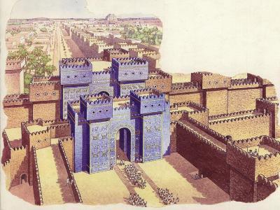 The Ishtar Gate of Babylon-Pat Nicolle-Giclee Print