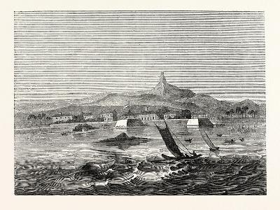 The Island of Ceylon: Distant View of Adam's Peak from Fort Colombo Roads--Giclee Print