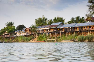 The Island of Don Det Is an Upcoming Backpacker Stop Along the Cambodia and Laos Border-Micah Wright-Photographic Print