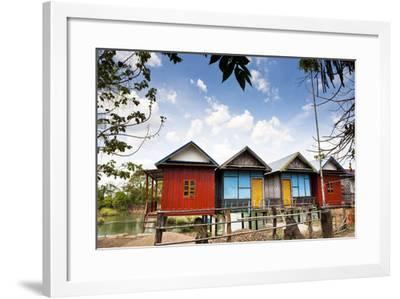 The Island of Don Det Is an Upcoming Backpacker Stop on Mekong River Along Cambodia and Laos Border-Micah Wright-Framed Photographic Print