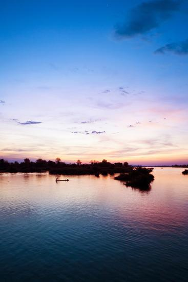 The Island of Don Det Is an Upcoming Backpacker Stop on Mekong River Along Cambodia and Laos Border-Micah Wright-Photographic Print