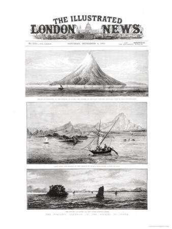 "The Island of Krakatoa, Front Cover of ""The Illustrated London News,"" 8th September 1883"