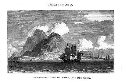The Island of Montserrat in the Caribbean Sea, 19th Century-E de Berard-Giclee Print