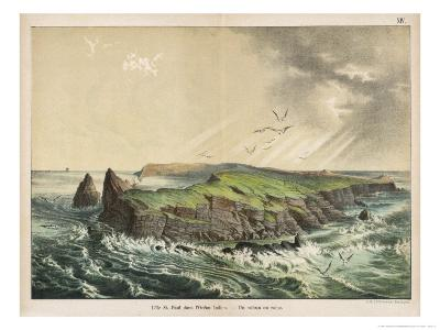 The Island of Saint-Paul in the Indian Ocean: a Former Volcano-Ferdinand Von Hochstetter-Giclee Print